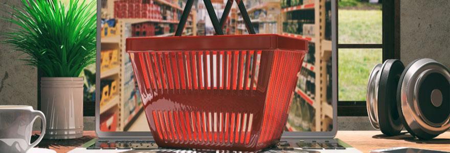 Les courses sur le net